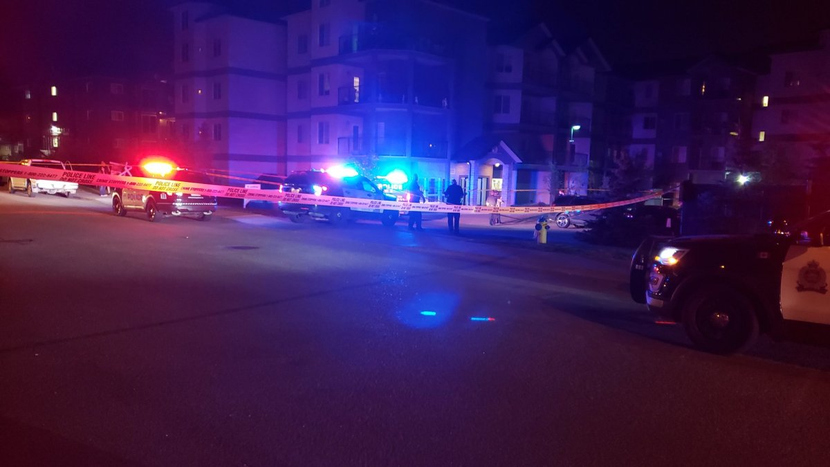 Edmonton Police Service homicide detectives and the gang unit investigating a fatal shooting in a parking lot near 162 Avenue and 51 Street on Sunday evening. August 19, 2018..