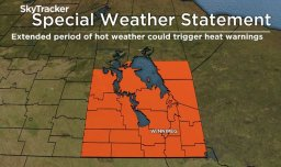 Continue reading: Central and southern Manitoba in store for a heat wave, hot weather warnings