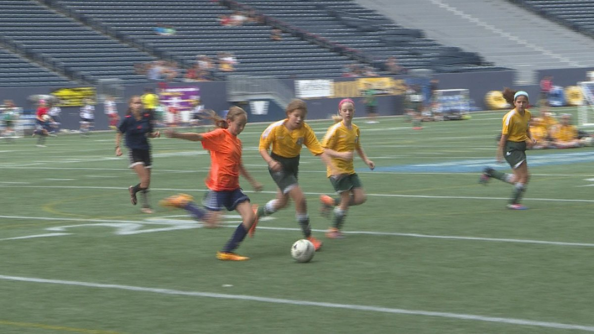 Hundreds of soccer players tied up their cleats for the fourth annual three-on-three tournament, hosted by the Winnipeg Youth Soccer Association.
