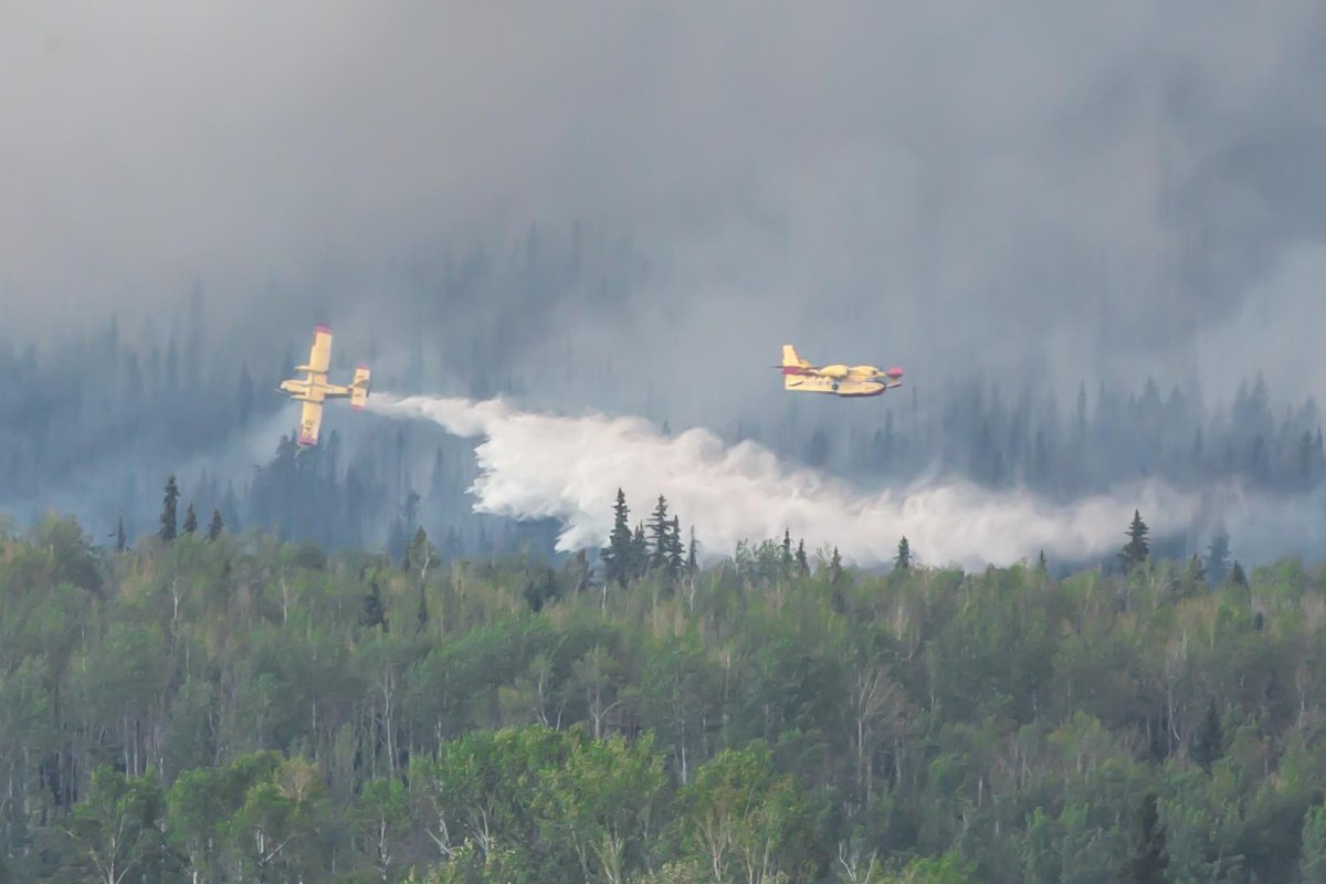 Water bombers attack the Shovel Lake wildfire during 2018's devastating wildfire season.