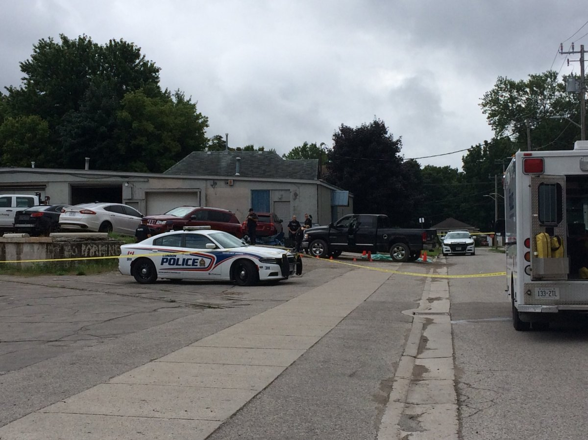 Police responded to reports of an altercation between two people, when they discovered a man who had been hit by a vehicle.