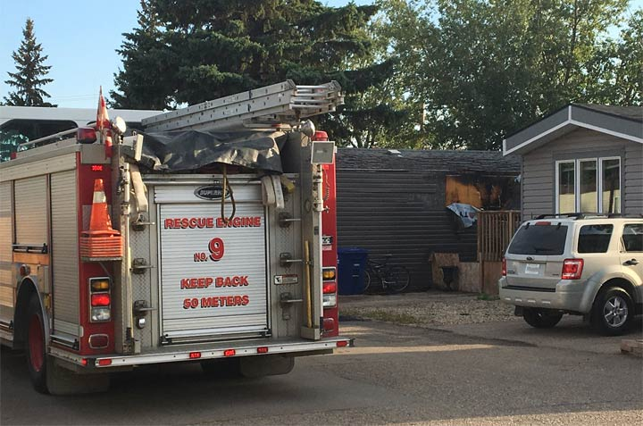 Unattended cooking was the cause of a blaze at a mobile home, according to the Saskatoon Fire Department.