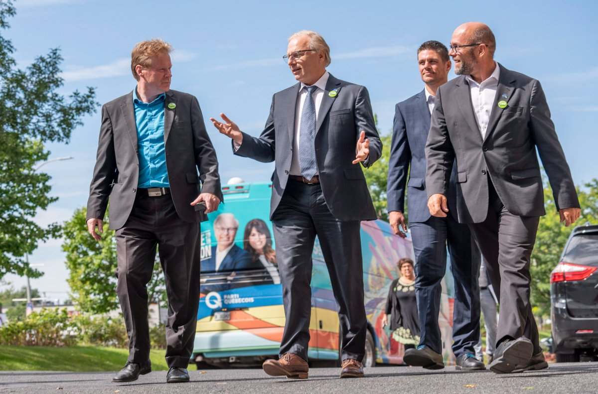 PQ leader Jean-Francois Lissee makes a campaign stop at the UPA, Quebec's farmers association, in Longueuil, Que. on Thursday, September 6, 2018.