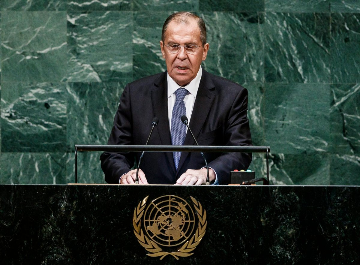 Russia's Foreign Minister Sergey Lavrov addresses the General Debate of the 73rd session of the General Assembly of the United Nations at United Nations Headquarters in New York, New York, USA, 28 September 2018.