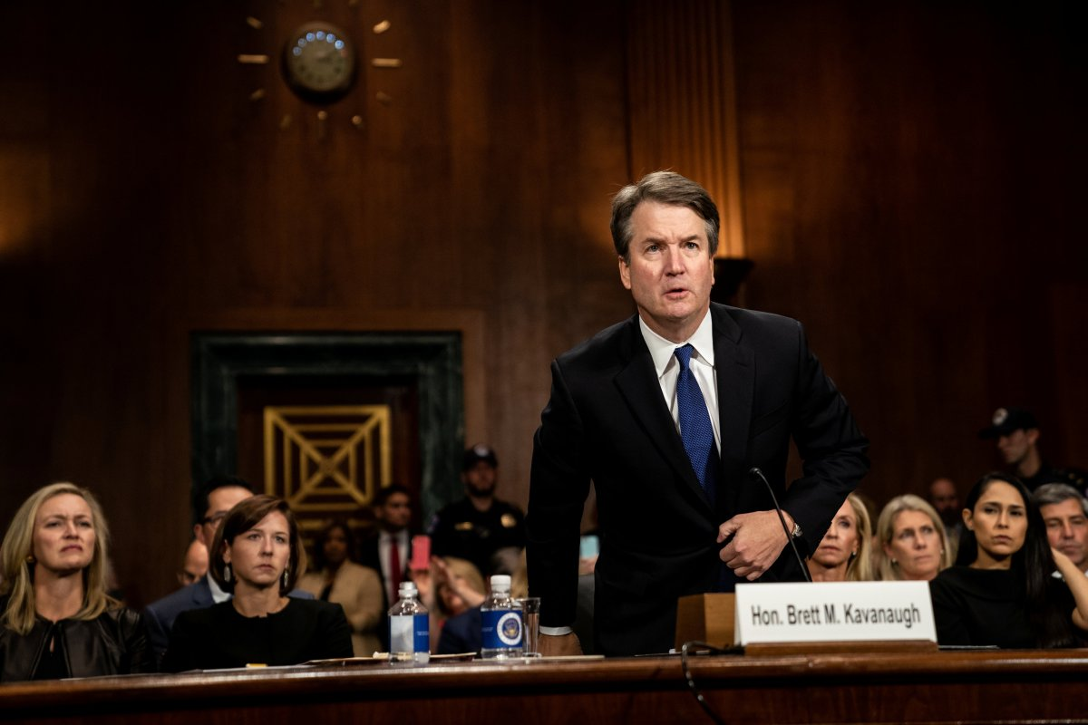 Judge Brett Kavanaugh testifies in front of the Senate Judiciary Committee regarding sexual assault allegations on Capitol Hill in Washington, D.C., on Sept. 27.