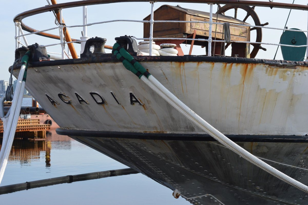 """CSS Acadia, known as """"Halifax's Grand Old Lady"""", has been left to rust away in the Halifax Harbour as much needed repair and maintenance work has been delayed over a lack of funding,."""