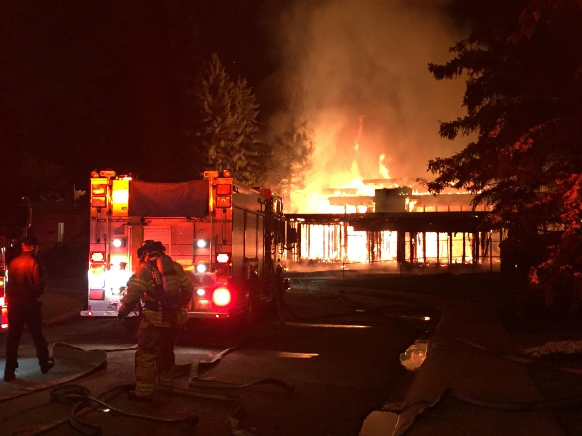 A large home being built at 9004 - 139 St. in west Edmonton's Parkview neighbourhood caught fire on Friday, September 14, 2018.