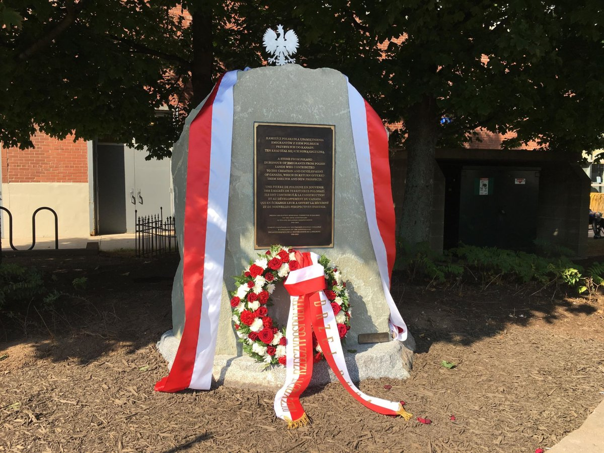A monument honouring the Polish-Canadian community has been erected in Halifax.