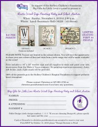 Continue reading: Rustic Wood Sign Painting Party & Silent Auction in support of Stollery Children's Hospital Foundation