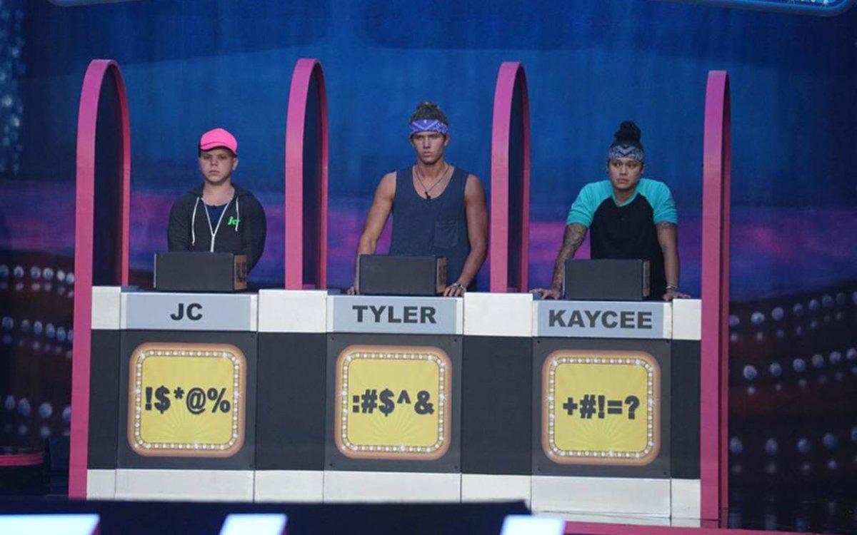 JC Monduix, Tyler Crispen and Kaycee Clark on 'Big Brother.'.