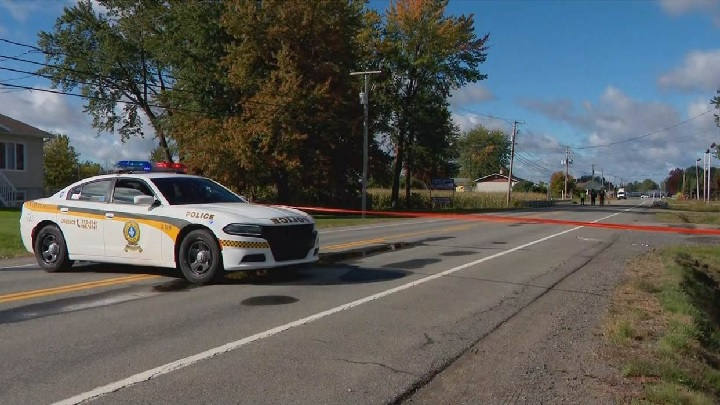 A 52-year-old man walking along a country road in Louiseville, Que., was struck and killed after a police intervention.