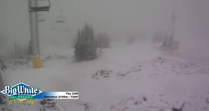 Big White Ski Resort had snow on its higher elevations on Friday morning.