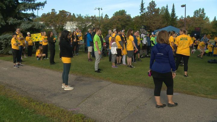 Over 100 people gathered in Victoria Park for the Saskatchewan Brain Injury Association's annual Brain Boogie.