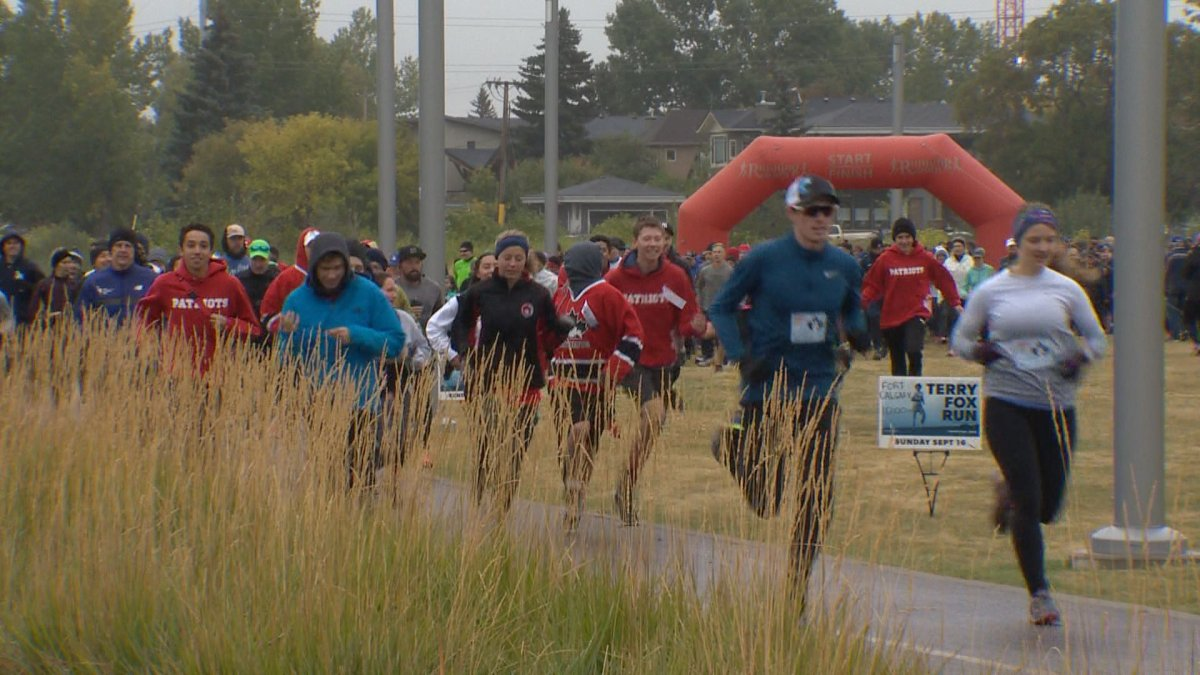 More than 1,000 people turned out to the Terry Fox Run at Fort Calgary on Sunday.