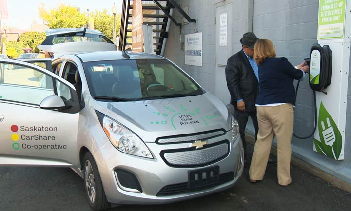 Saskatoon CarShare Co-operative now has a total of six vehicles, including four which are solar-powered.