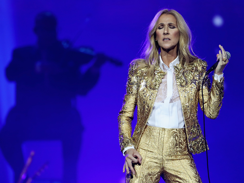 Celine Dion performs at Qudos Bank Arena on July 27, 2018, in Sydney, Australia.