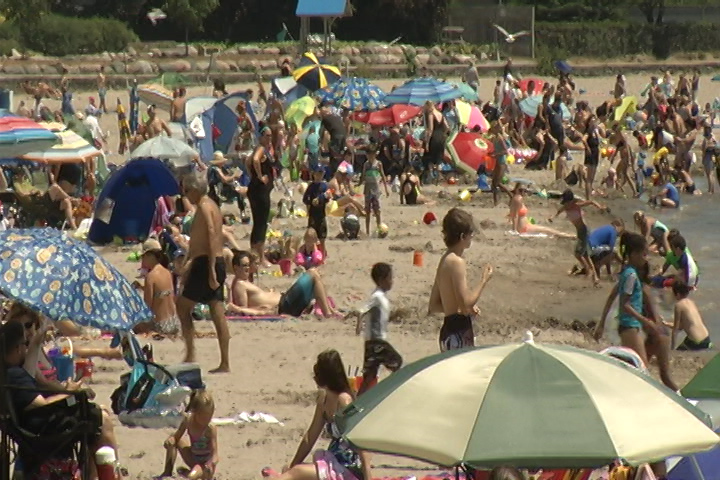 Victoria Park Beach is one of the major tourist attractions in the Town of Cobourg.