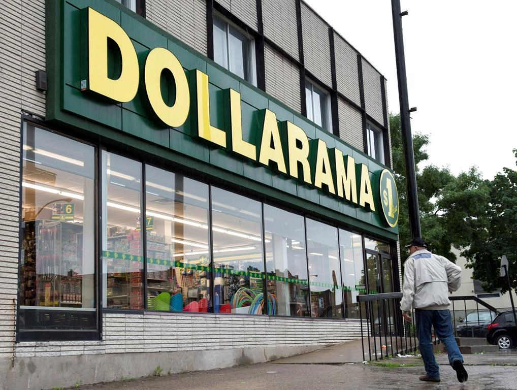 A Dollarama store is seen June 11, 2013 in Montreal.