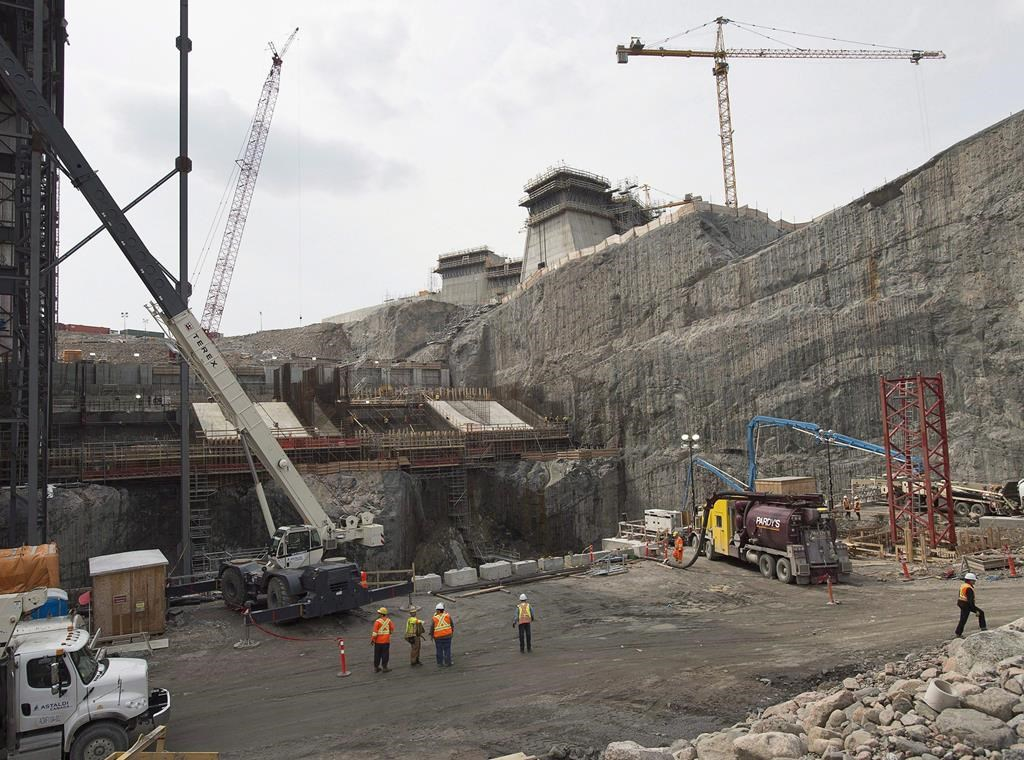 The construction site of the hydroelectric facility at Muskrat Falls, N.L., is seen on Tuesday, July 14, 2015.