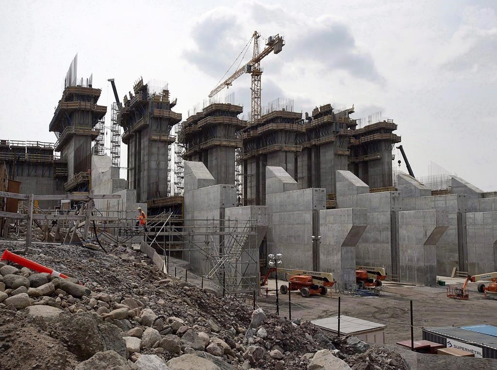 The construction site of the hydroelectric facility at Muskrat Falls, Newfoundland and Labrador is seen on Tuesday, July 14, 2015.