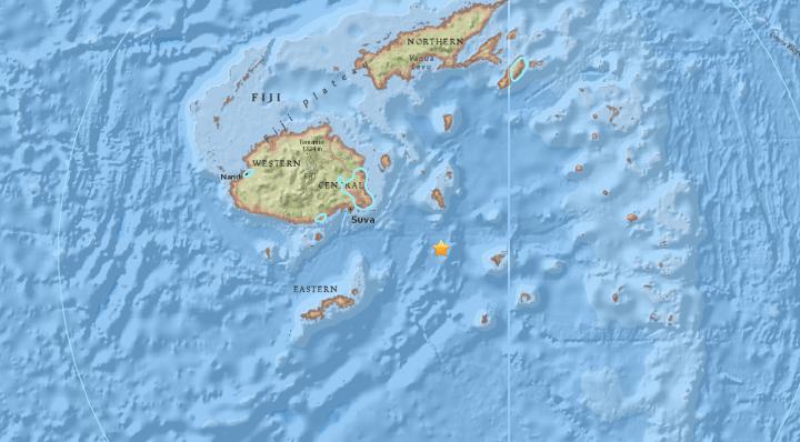 An earthquake has hit off the coast of Fiji.