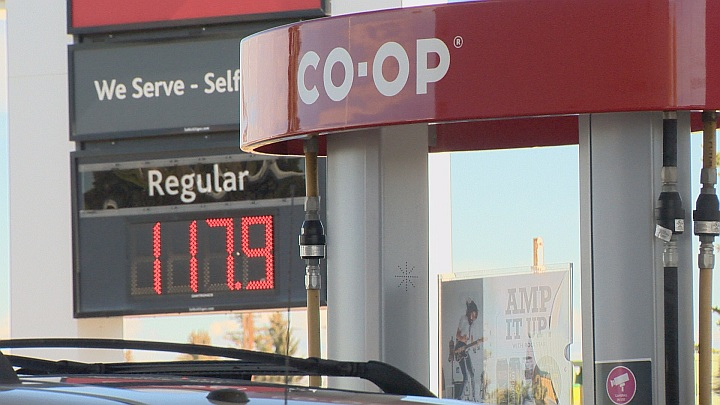 Gas prices in Taber, Alberta September 25, 2018.
