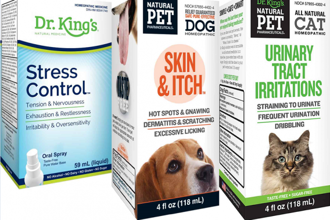 A few of the recalled products from King Bio Inc. are seen in this composite image.