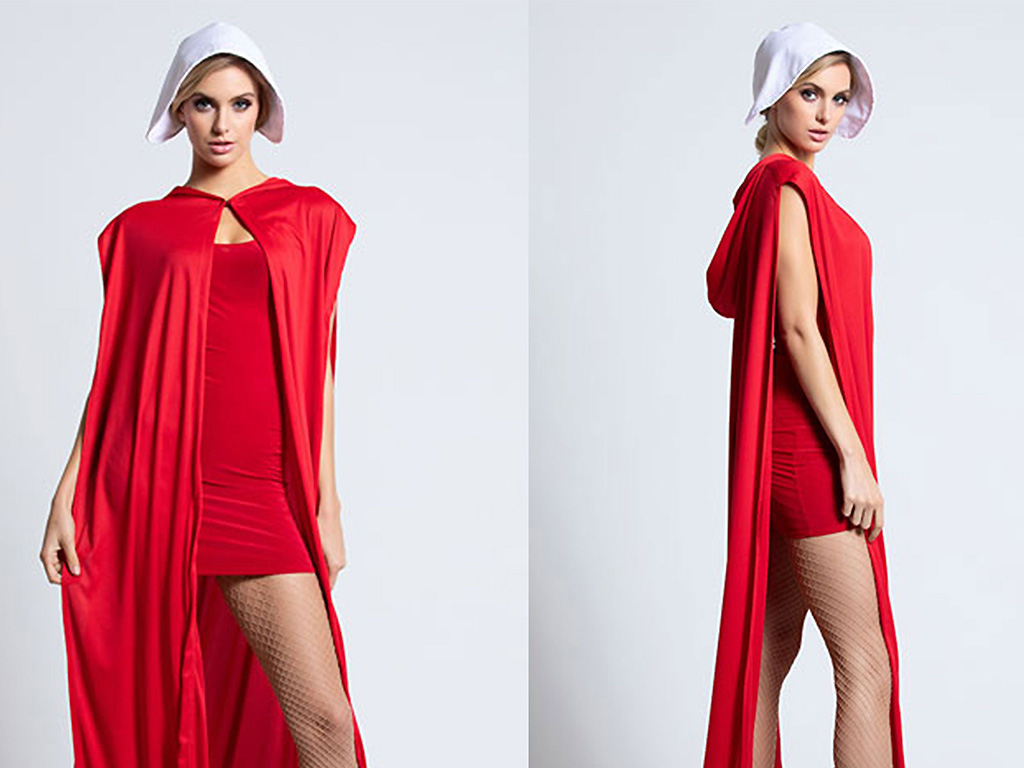 Retailer Yandy modelled their 'Brave Red Maiden' costume after the red cape and gown worn in show 'The Handmaid's Tale.'.