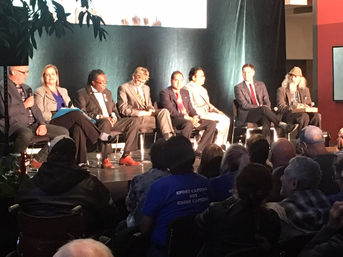 Tuesday's mayoral forum focused on downtown.