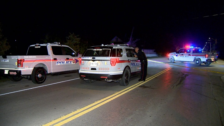 York regional police say a 23-year-old man was shot just after midnight in Georgina.
