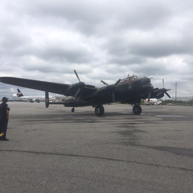 The Lancaster returns from its anniversary flight on Tuesday afternoon in Mount Hope.
