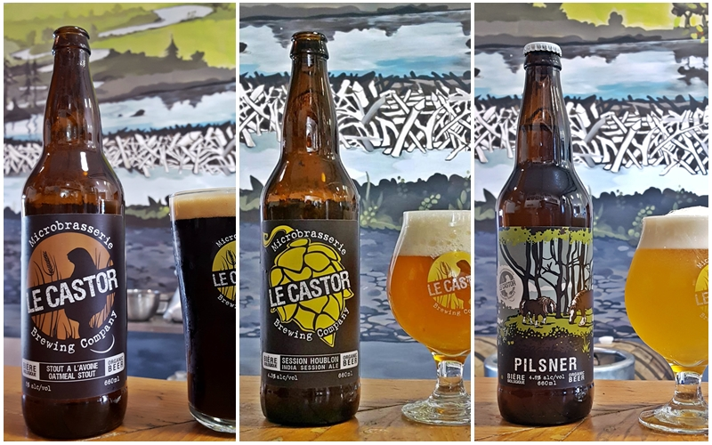 Three products recalled by Le Castor Microbrewery in Rigaud, QC.
