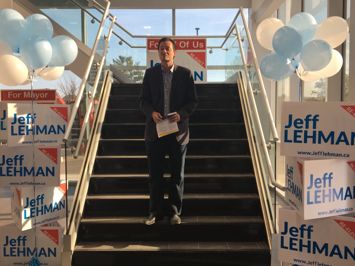 Incumbent Jeff Lehman has been elected to a third term as mayor of Barrie.