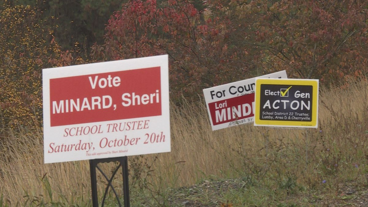 Lumby voters will head to the polls on October 20.
