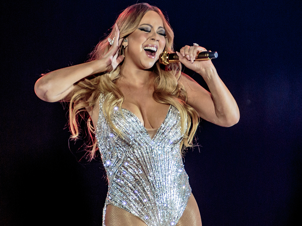 Mariah Carey in Europe for the first time after 13 years. Live at the Mediolanum Forum in Milan, on April 16, 2016 during the 'Sweet Sweet Fantasy' tour.