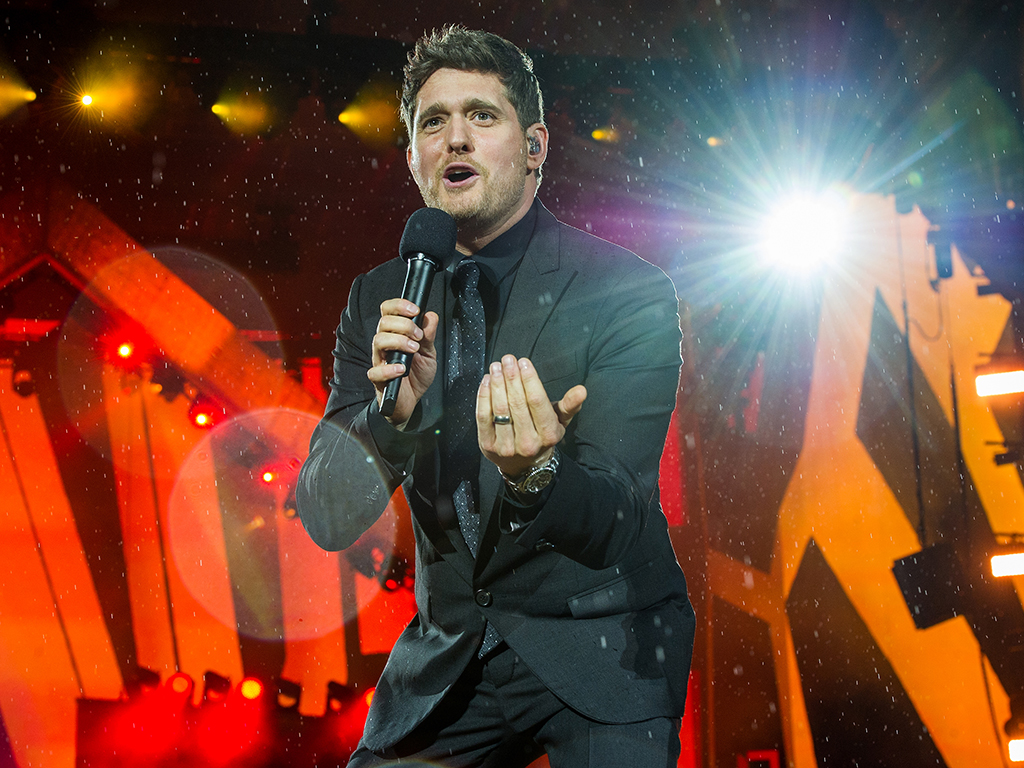 Michael Bublé performs live at 'Barclaycard presents British Summer Time' at Hyde Park on July 13, 2018, in London, England.