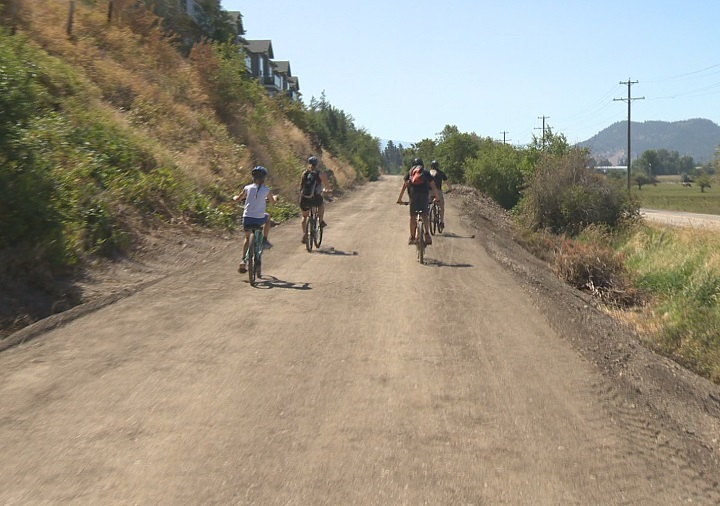 A small section between Kelowna's airport and Winfield is preventing the Okanagan Rail Trail from being one continuous path.