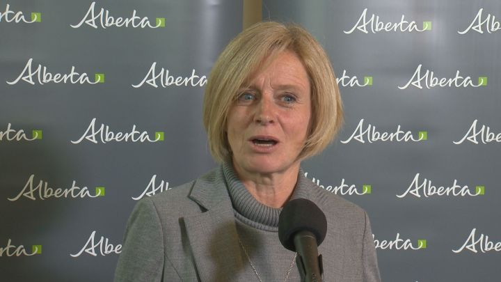 Premier Rachel Notley speaks to reports on Wednesday. Notley's approval rating from Albertans rose six percentage points to 41 per cent between June and September, according to Dart Insight and Communications' latest quarterly survey looking at the approval ratings of Canadian premiers.