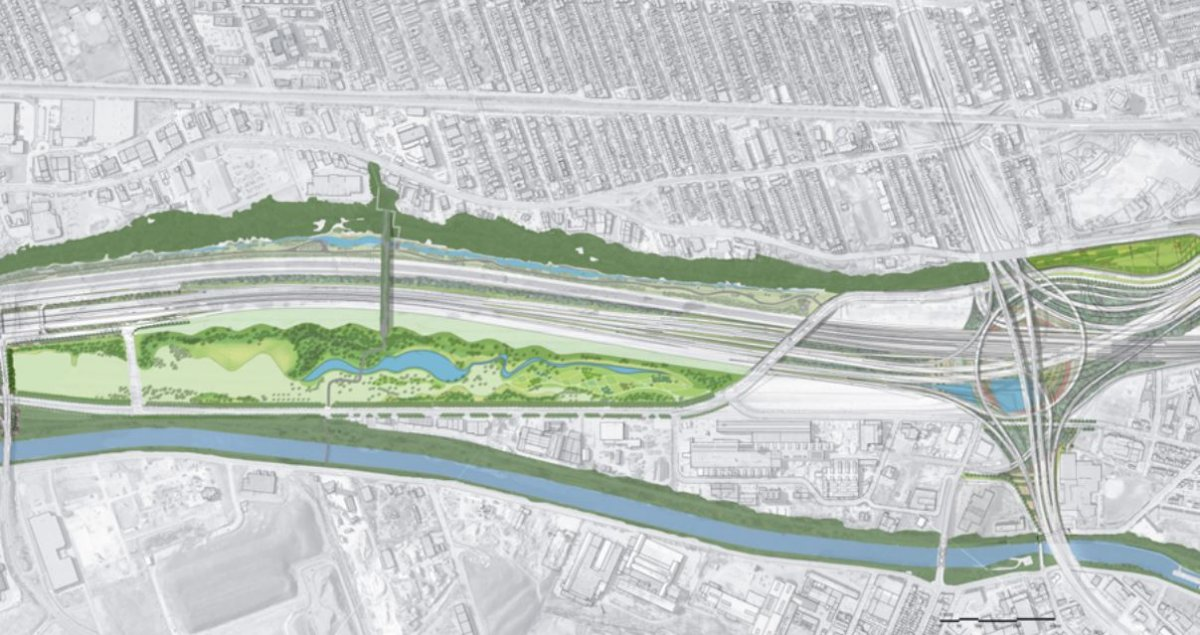 The City of Montreal's vision for the park and walkway.