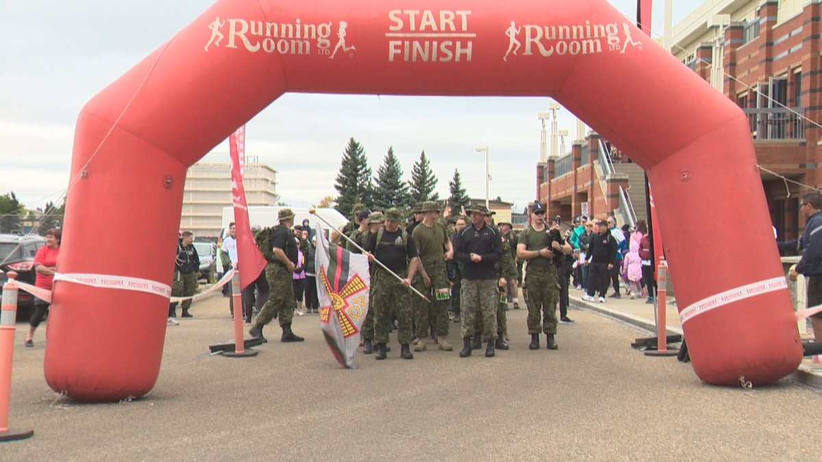 Hundreds take part in the 2018 Walk for Valour.