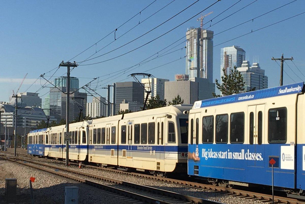 Edmonton's Capital LRT Line on Wednesday, Oct. 24, 2018.