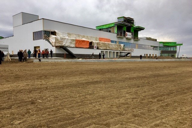 For the first time, horses run the new Century Mile racetrack in south Edmonton on Oct. 26, 2018.