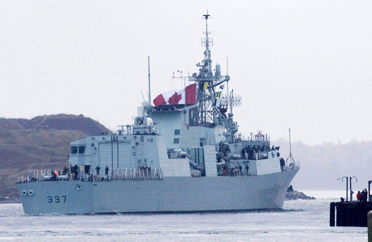 HMCS Fredericton leaves Halifax on Sunday, Oct. 25, 2009.