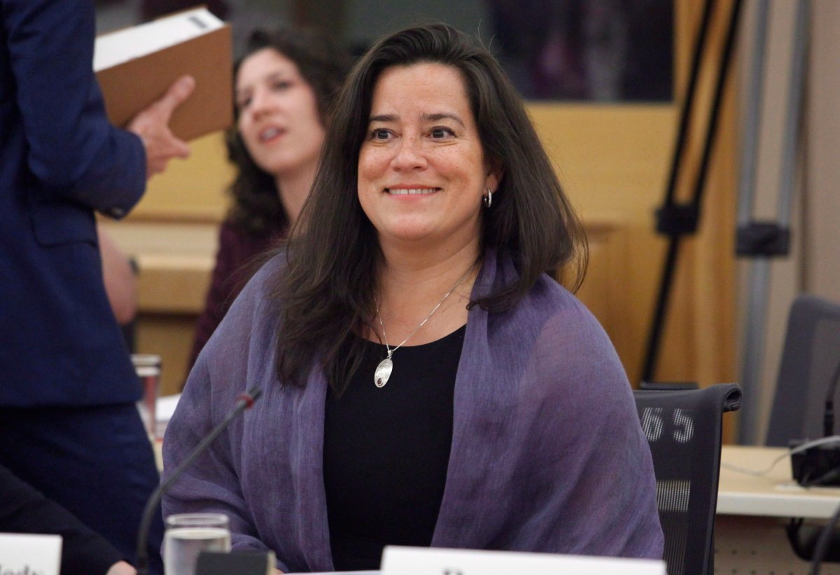 Justice Minister Jody Wilson-Raybould appears at the Senate legal and constitutional affairs committee on Bill C-51 in Ottawa on Wednesday, June 20, 2018. Among other things, the bill would remove blasphemy from the Criminal Code.