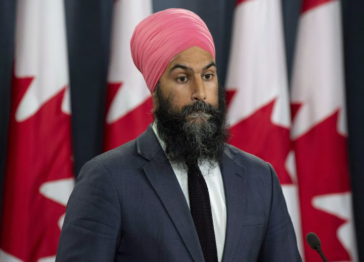 NDP Leader Jagmeet Singh speaks with the media during a news conference in Ottawa, Thursday Aug. 30, 2018.