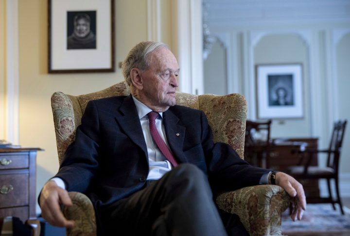 Former prime minister Jean Chretien participates in an interview promoting his new book in Ottawa on Friday, Oct. 5, 2018.