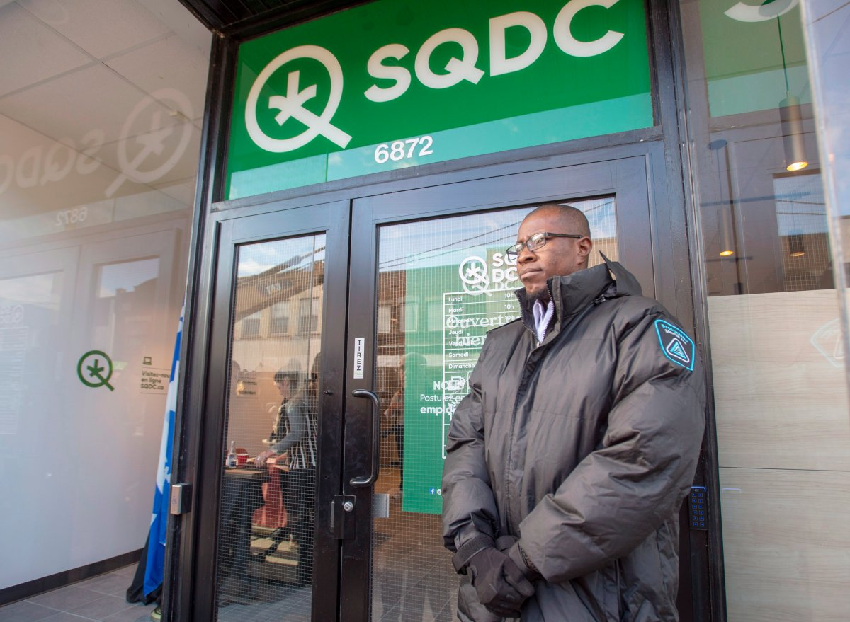The SQDC is asking that the public respect distancing measures while shopping and encouraged the public to shop online.
