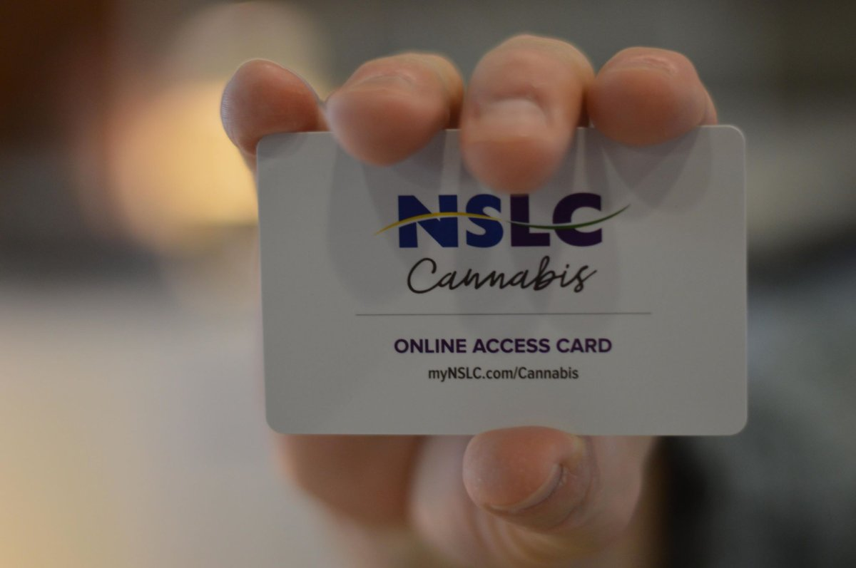 Nova Scotia is requiring anyone interested in purchasing cannabis online to obtain one of these access code cards.