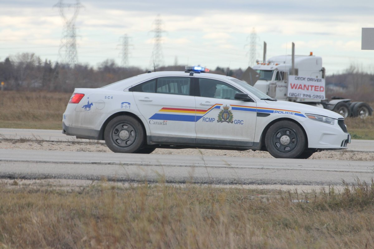 RCMP conduct traffic control on the Perimeter Highway in the RM of Springfield.