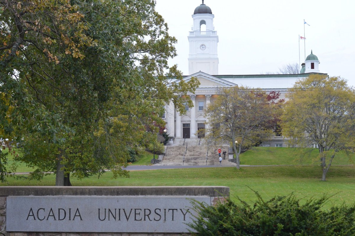 Acadia University in Wolfville, N.S., on Oct. 27, 2018.